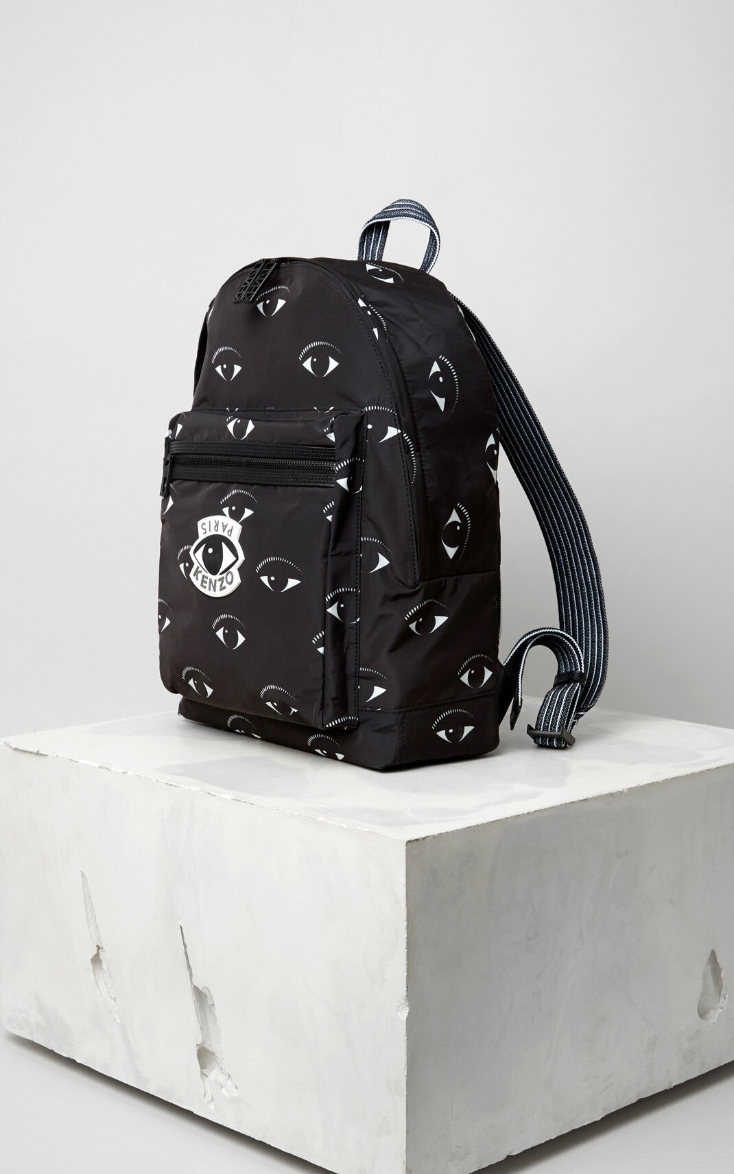 BLACK Multi Eye Backpack for men KENZO