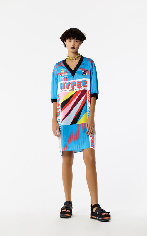 TURQUOISE 'Hyper KENZO' t-shirt dress for women