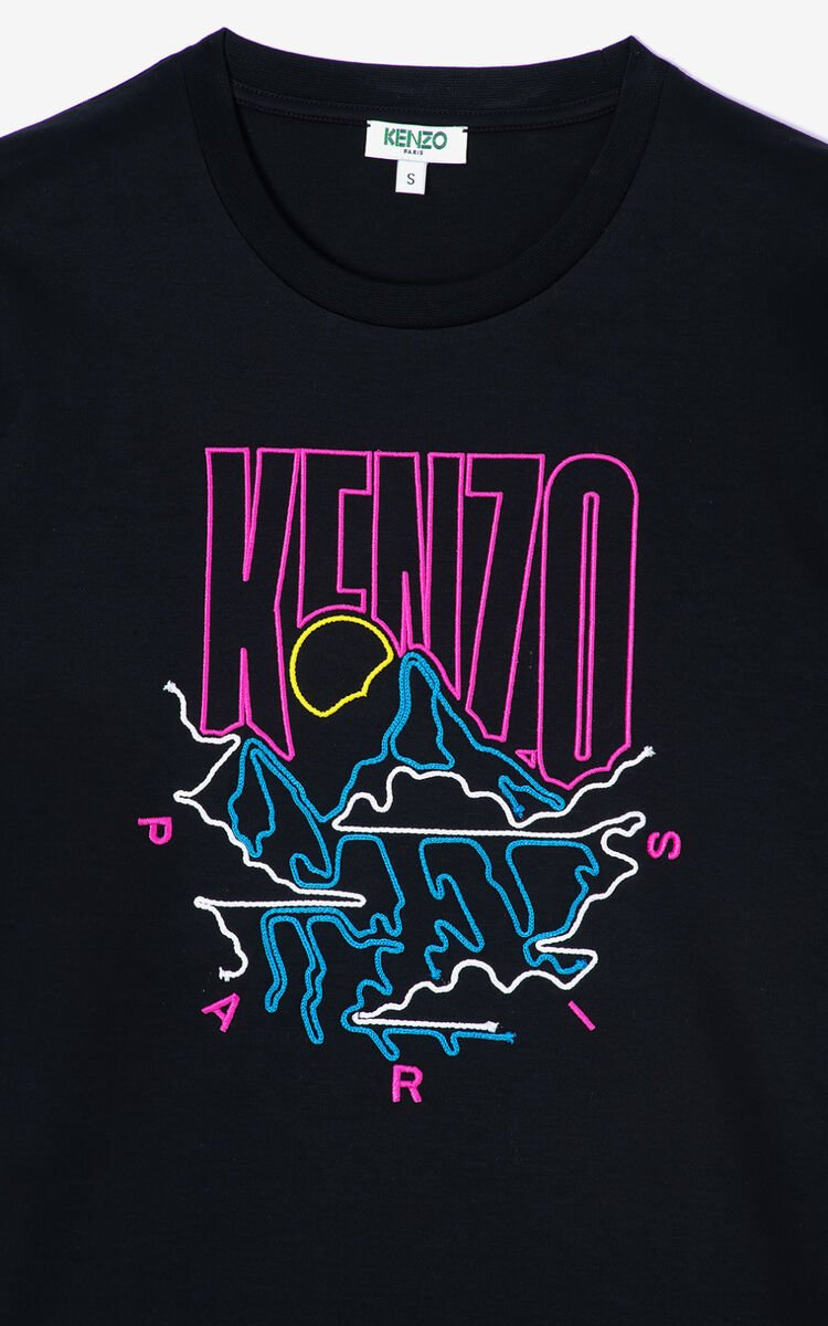 BLACK 'Kenzo Mountain' T-shirt for women