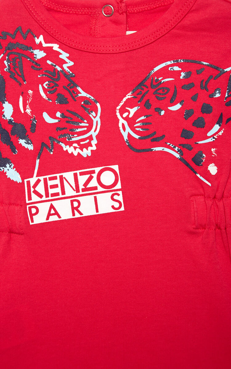 DEEP FUSCHIA 'Tiger Friends' dress for women KENZO