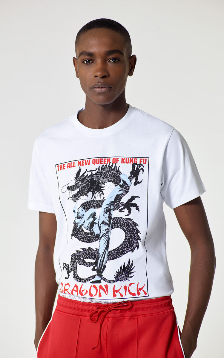 WHITE 'Movie Posters' T-shirt for women KENZO