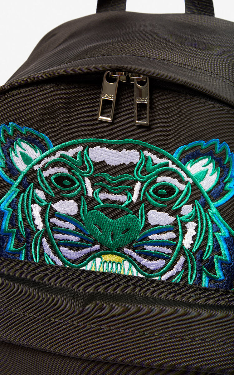 Large Tiger Canvas backpack for unisex KENZO