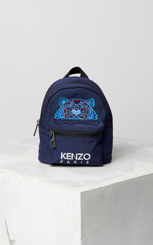 1eadcbbb NAVY BLUE Mini Tiger Canvas backpack for women KENZO ...