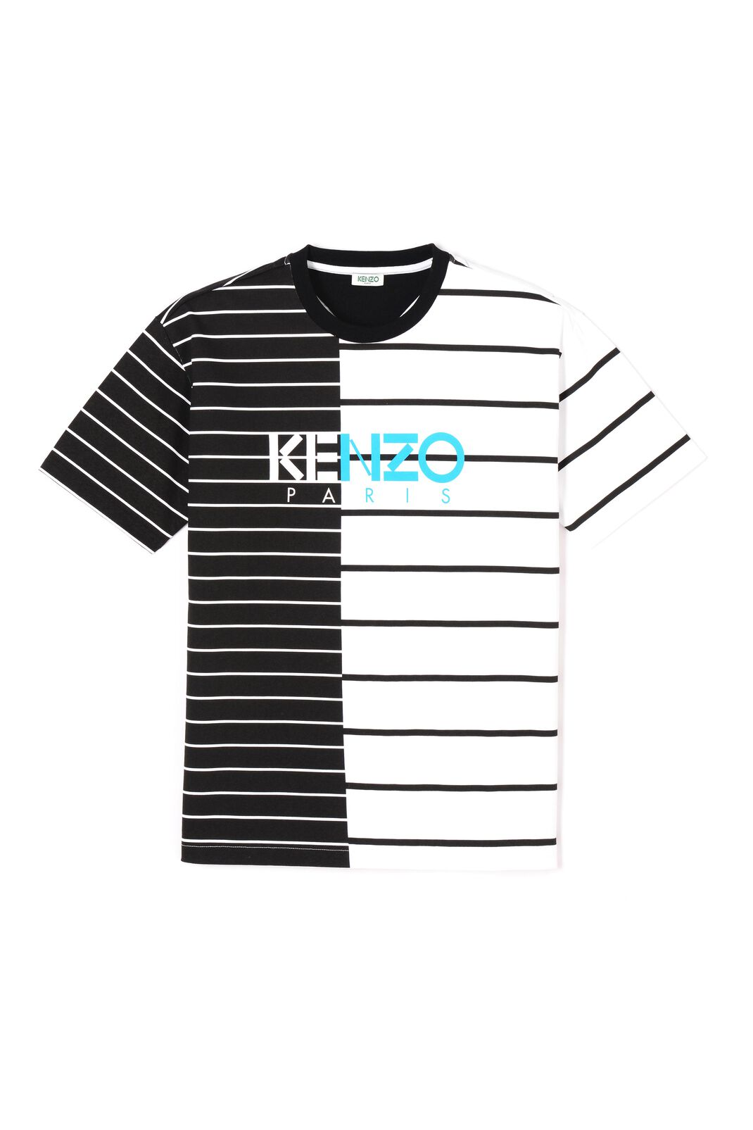 WHITE Striped KENZO Paris T-shirt for men