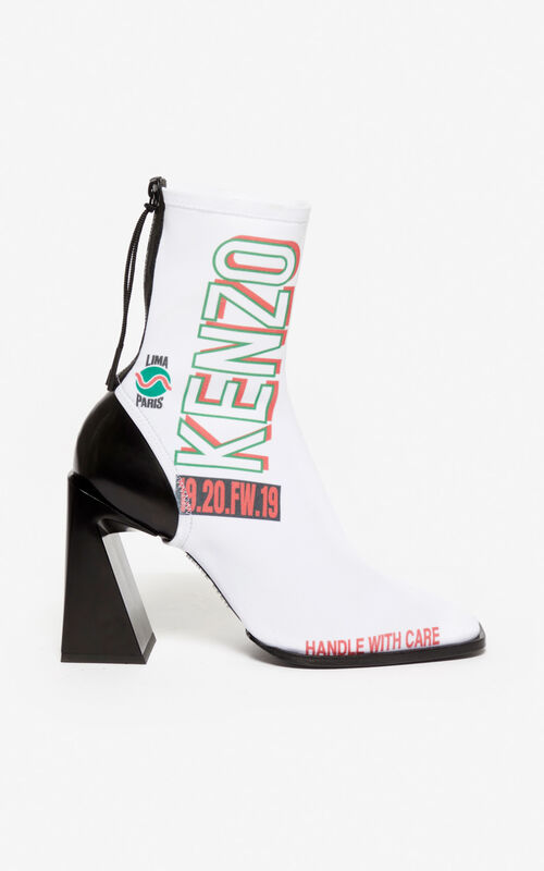 WHITE K-Square ankle boots for unisex KENZO