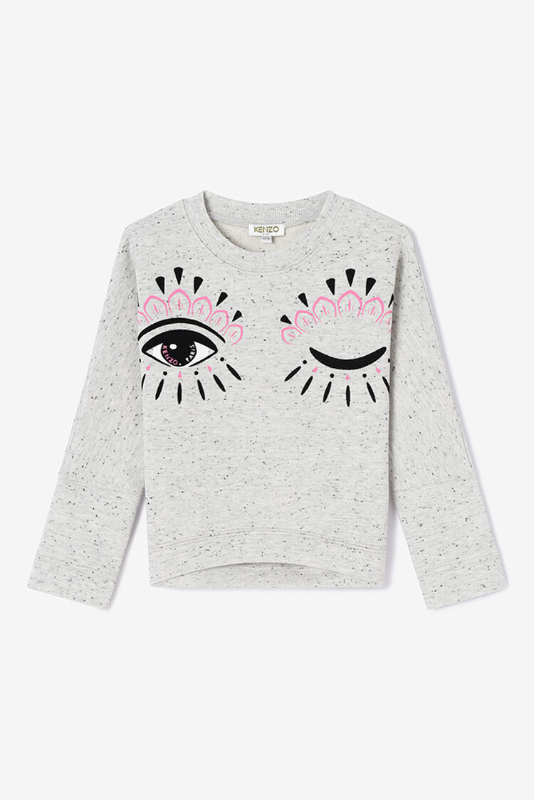 DOVE GREY Winking Eyes Sweatshirt for women KENZO