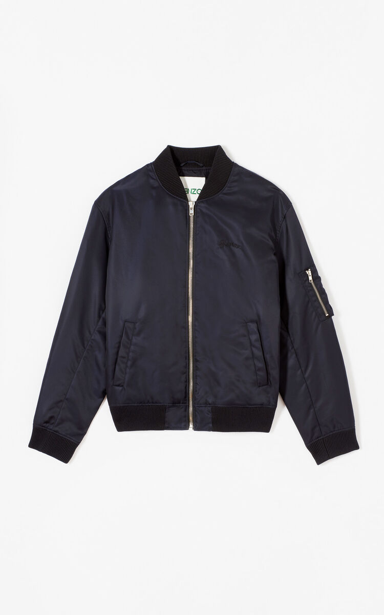 NAVY BLUE 'Bamboo Tiger' Bomber Jacket for women KENZO