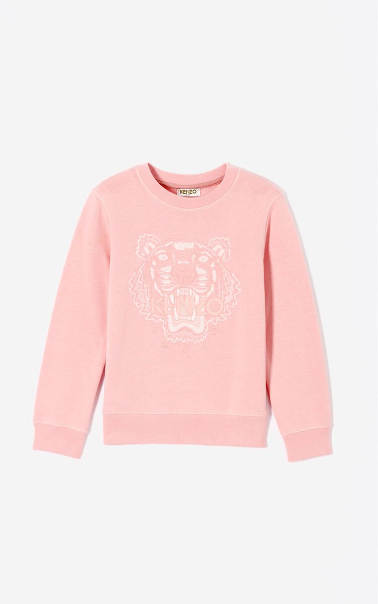 FADED PINK Tiger sweatshirt  for women KENZO