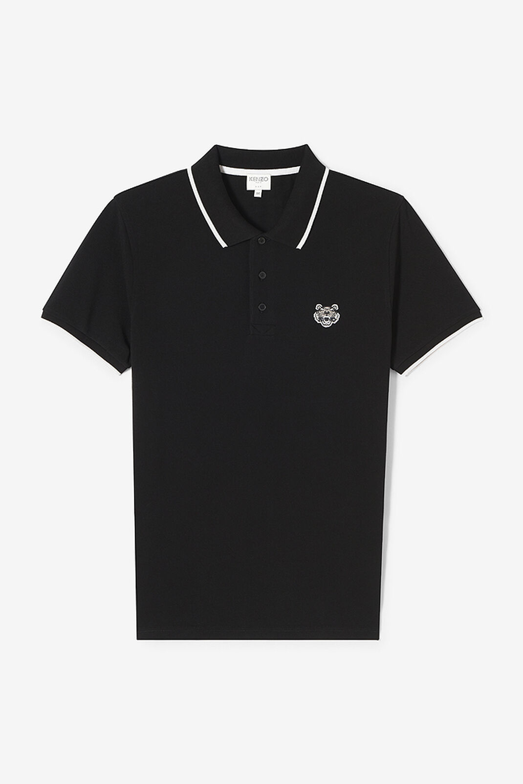 BLACK Tiger Polo Shirt for men KENZO
