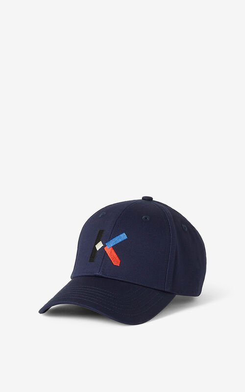 NAVY BLUE KENZO K cap for unisex