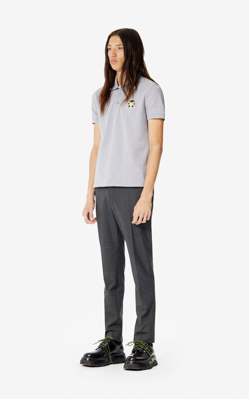 PEARL GREY Fitted 'Cupid' polo shirt 'Capsule Back from Holidays' for men KENZO