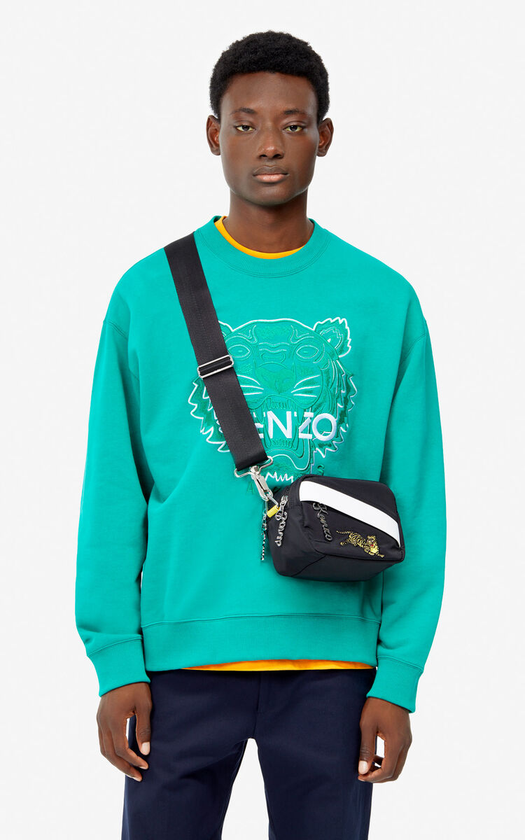 GRASS GREEN Two-tone Tiger sweatshirt for men KENZO