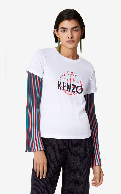 d376392b WHITE 'Color by KENZO' t-shirt for women ...
