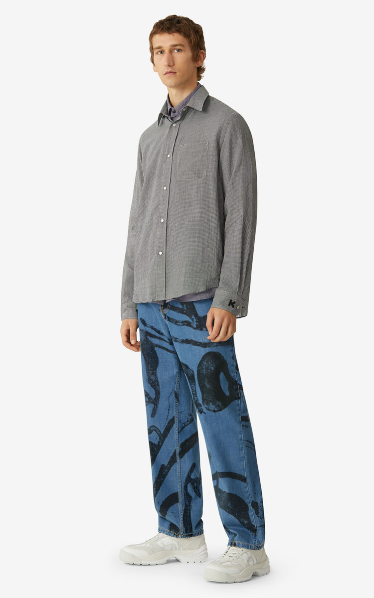 OFF WHITE Checked casual shirt      for men KENZO