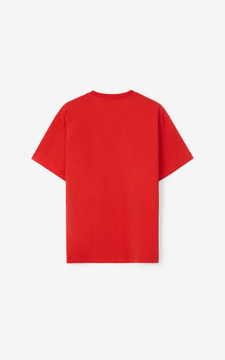 MEDIUM RED 'Chinese New Year Capsule' 'Sign & Symbol' oversize T-shirt for women KENZO