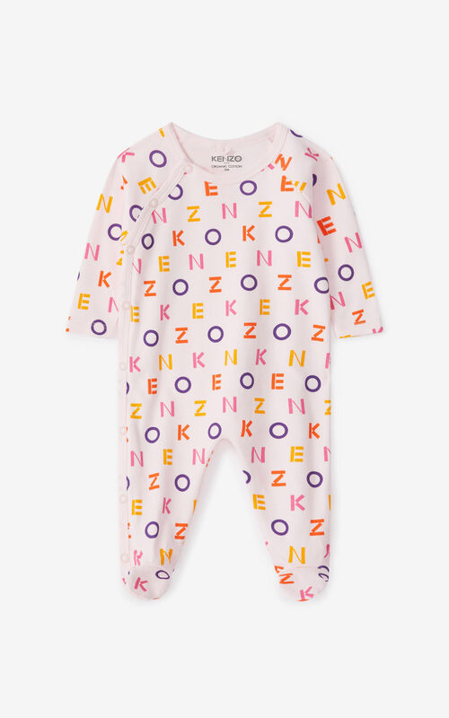FADED PINK Boxed set of 2 sleepsuits for unisex KENZO
