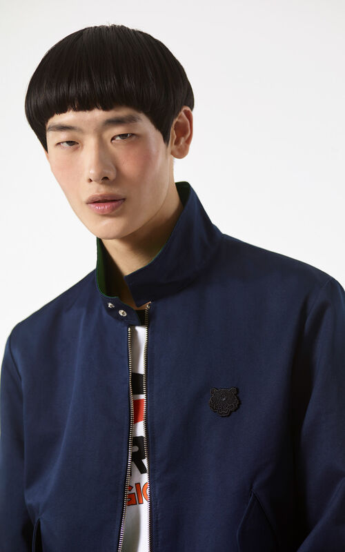 NAVY BLUE Reversible Tiger jacket for men KENZO