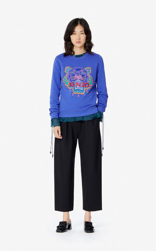 AUBERGINE 'Holiday Capsule' Tiger sweatshirt for women KENZO
