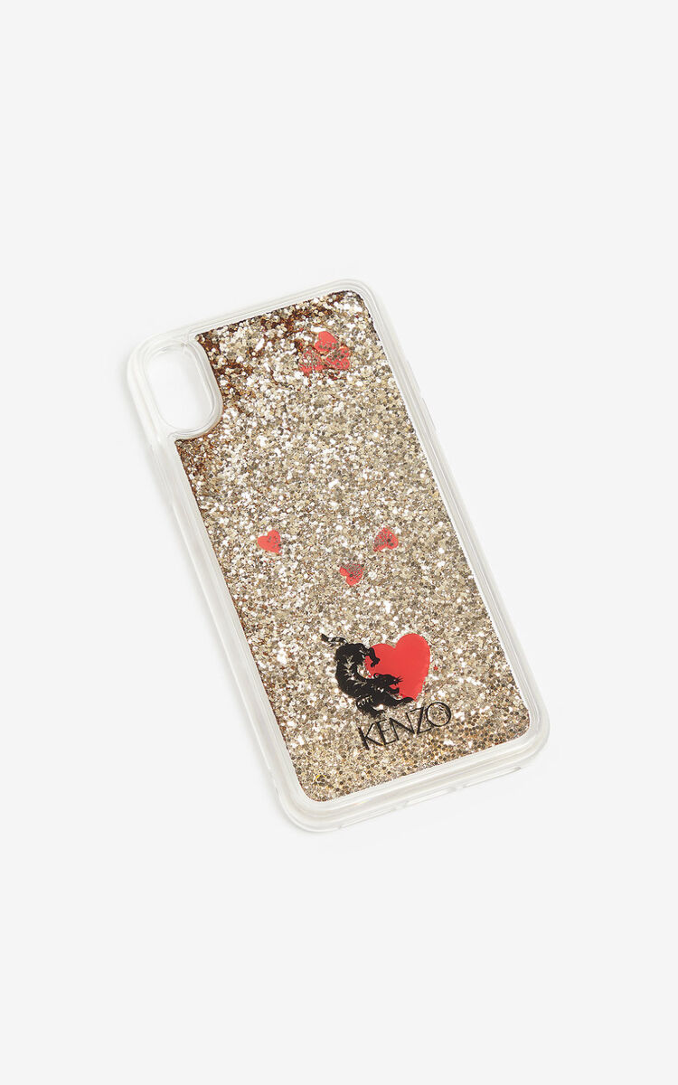 TRANSPARENT 'Valentine's Day capsule' iPhone XS max case for women KENZO
