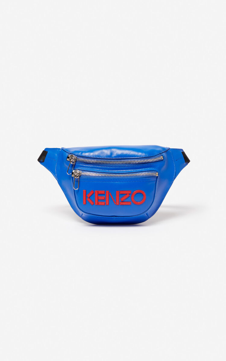 COBALT KENZO logo leather bumbag for women