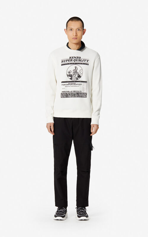ECRU 'Rice Bags' waffled sweatshirt for men KENZO