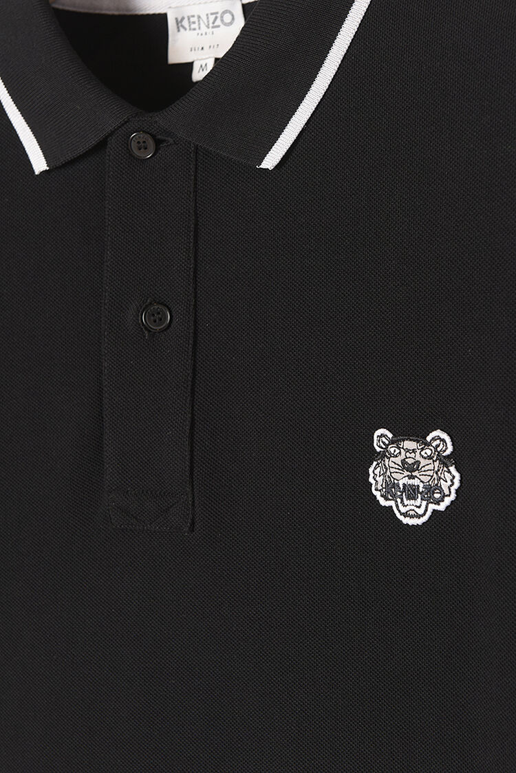 BLACK Regular Tiger Polo for men KENZO