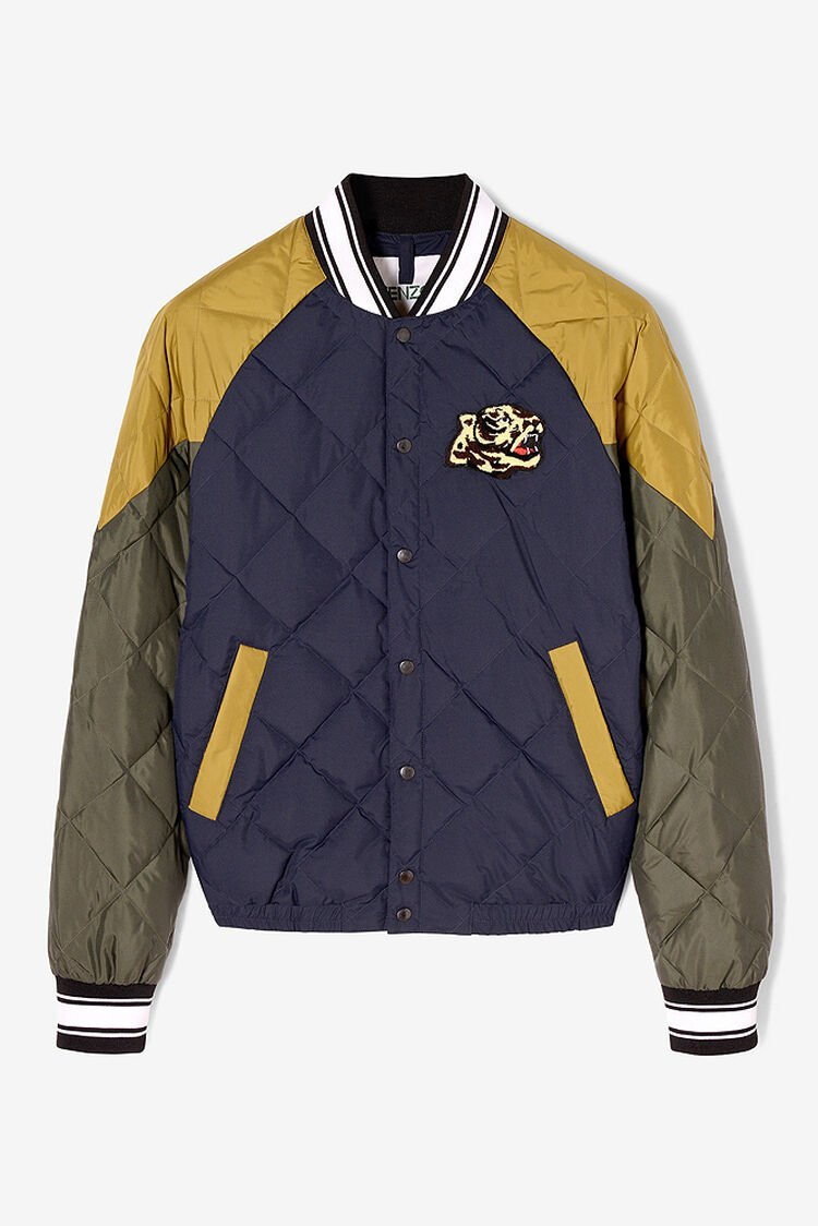 NAVY BLUE Quilted Varsity Jacket for men KENZO
