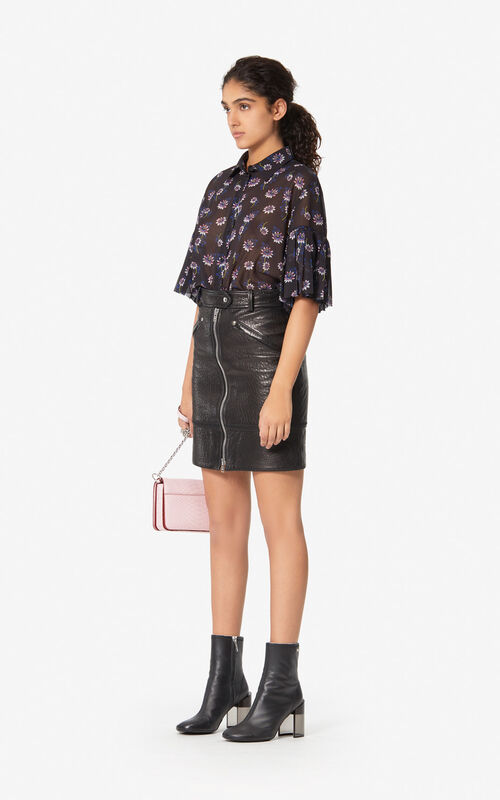 BLACK 'Passion Flower' shirt for women KENZO