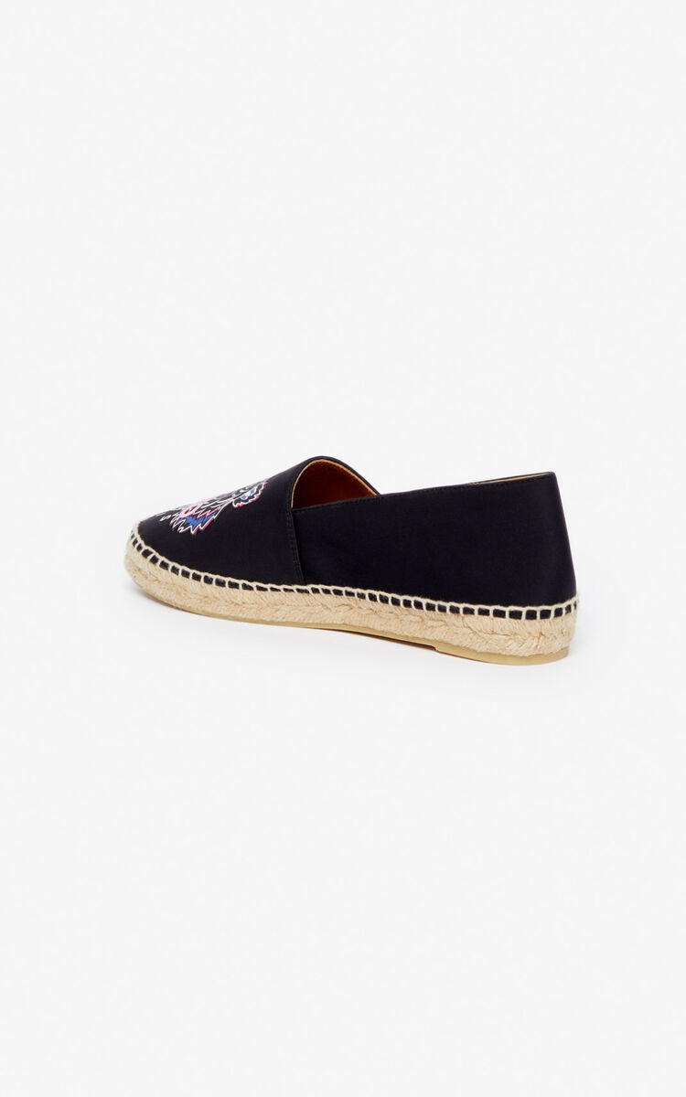 BLACK Tiger neoprene espadrilles for unisex KENZO