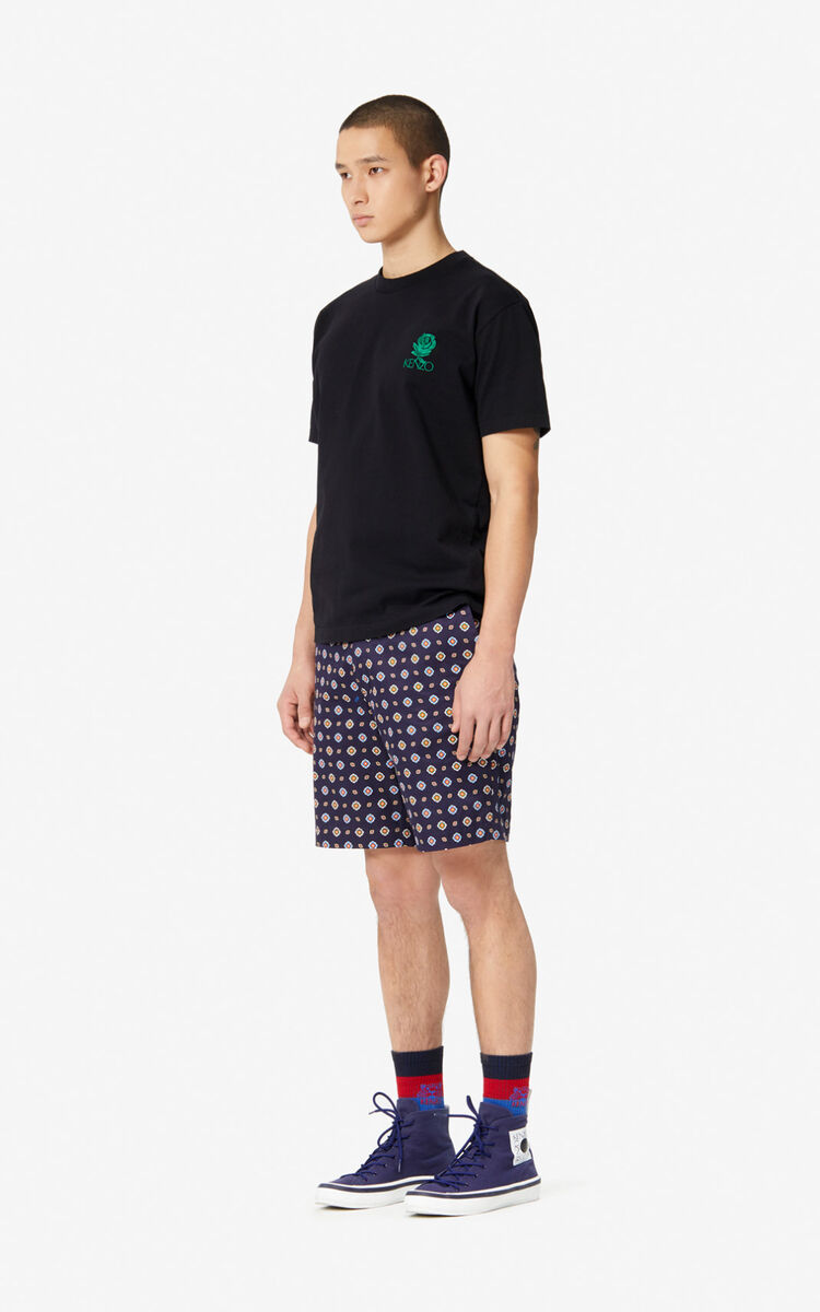 BLACK 'Roses' T-shirt for men KENZO