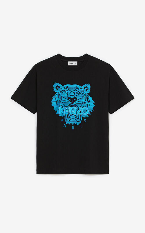 BLACK Tiger loose-fitting T-shirt for unisex KENZO