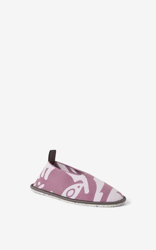 BLACKCURRANT K-Tiger K-Knit loafers for unisex KENZO