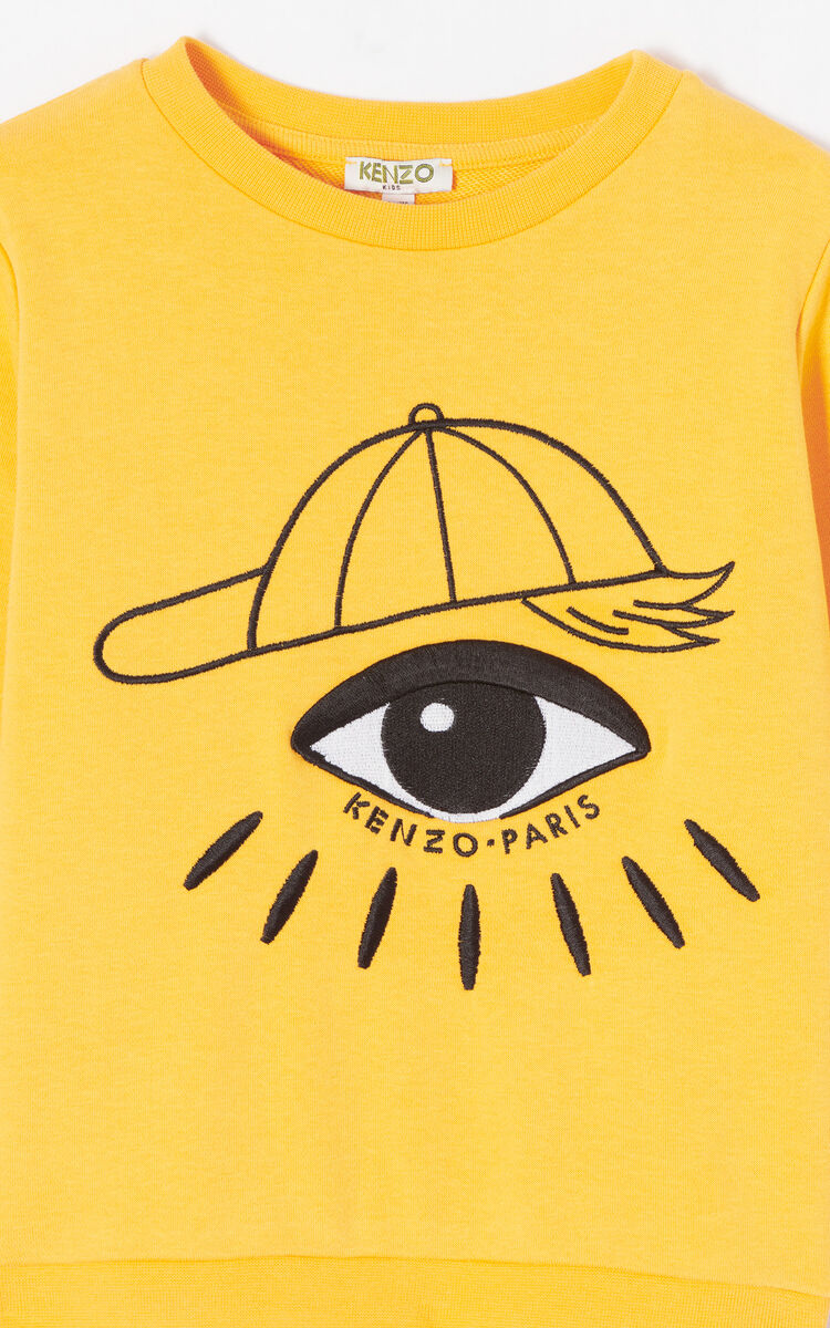 168825214b81 new appearance 5efaf d2bb4 golden yellow cosmic eye sweatshirt for ...