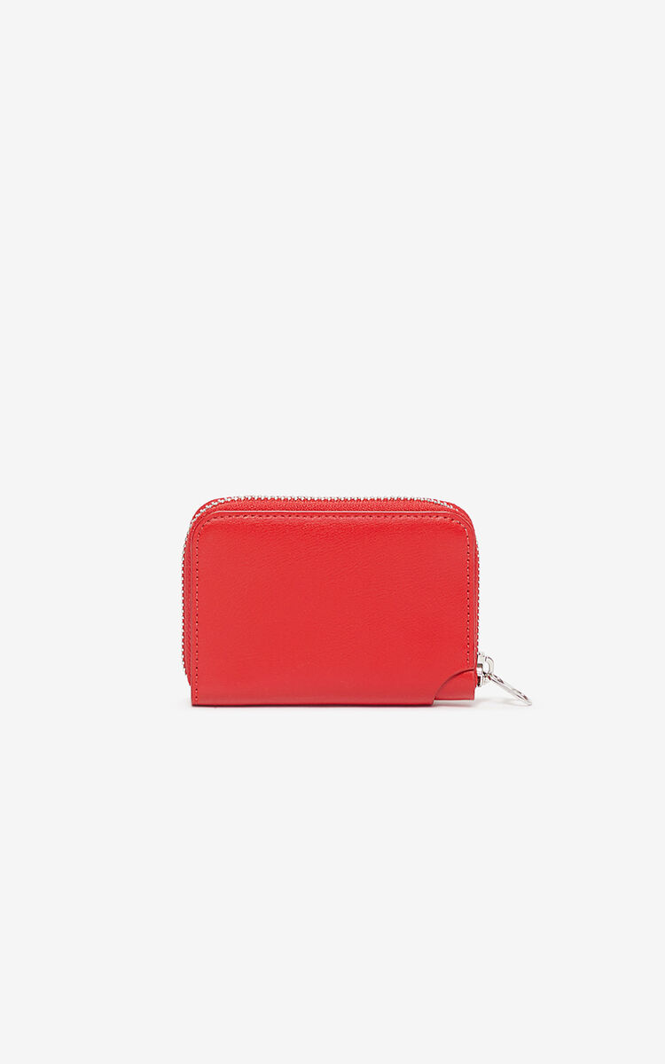 CHERRY Eye coin purse with zip for unisex KENZO