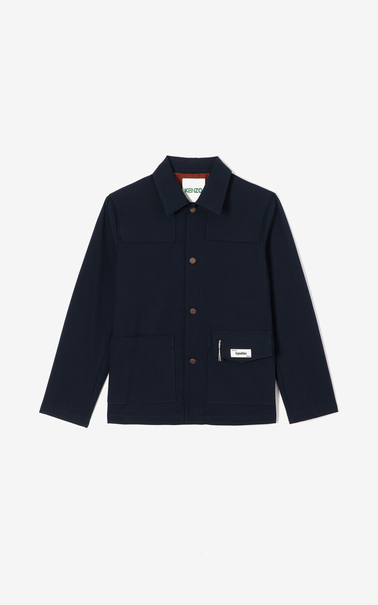 NAVY BLUE 'Expedition' jacket for men KENZO