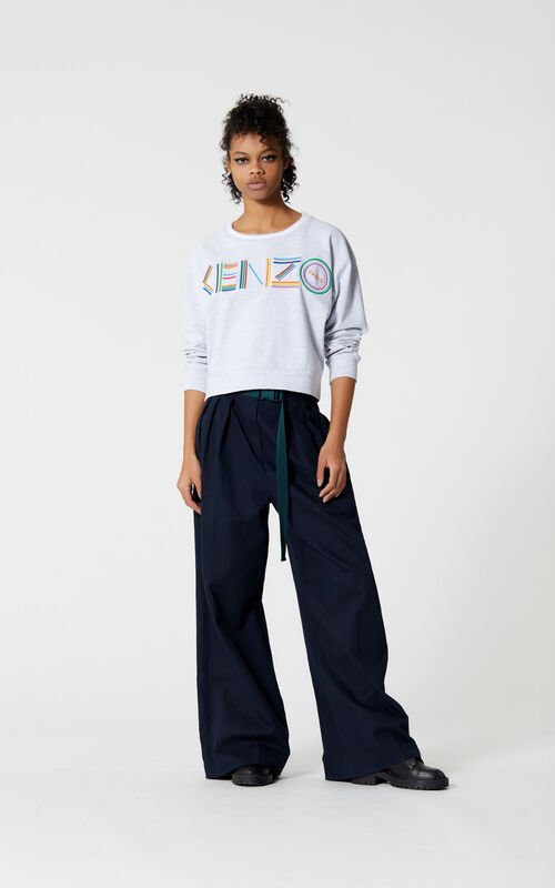 PALE GREY 'High Summer Capsule Collection' KENZO Logo Sweatshirt for women