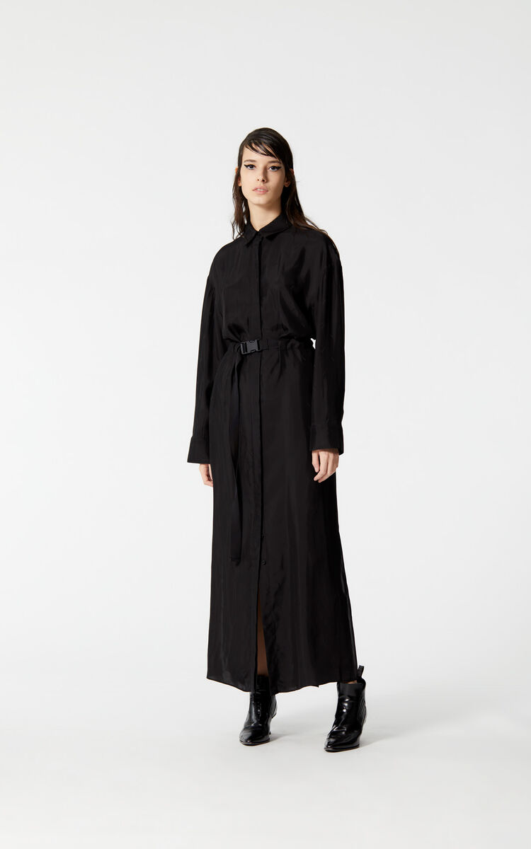 BLACK Long KENZO Logo dress for women