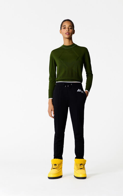 BLACK KENZO Signature jogging bottoms for women