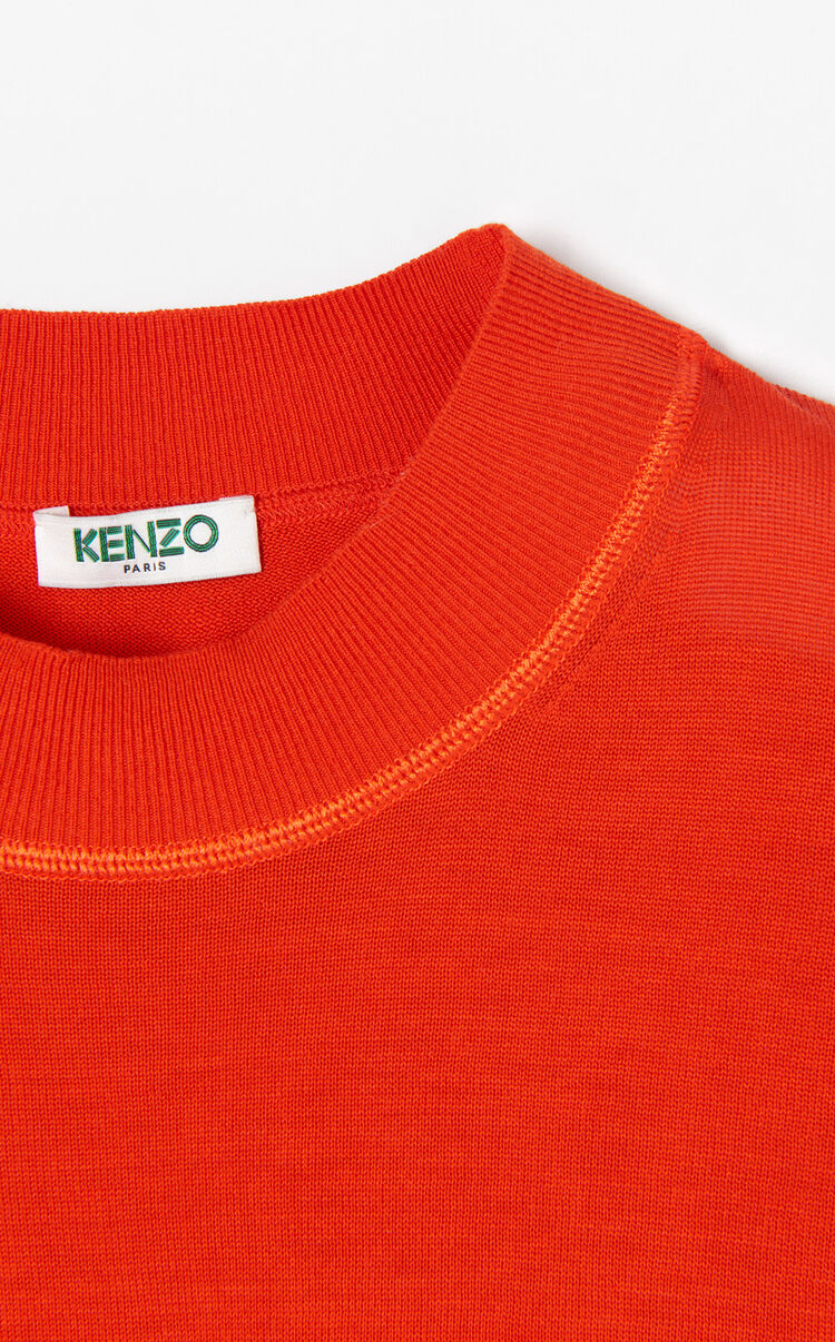 MEDIUM RED Knit silk jumper for women KENZO