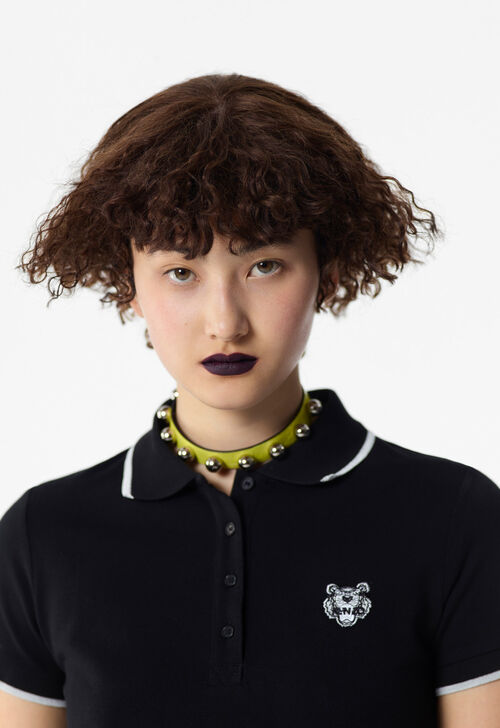 BLACK Tiger Polo Shirt for women KENZO