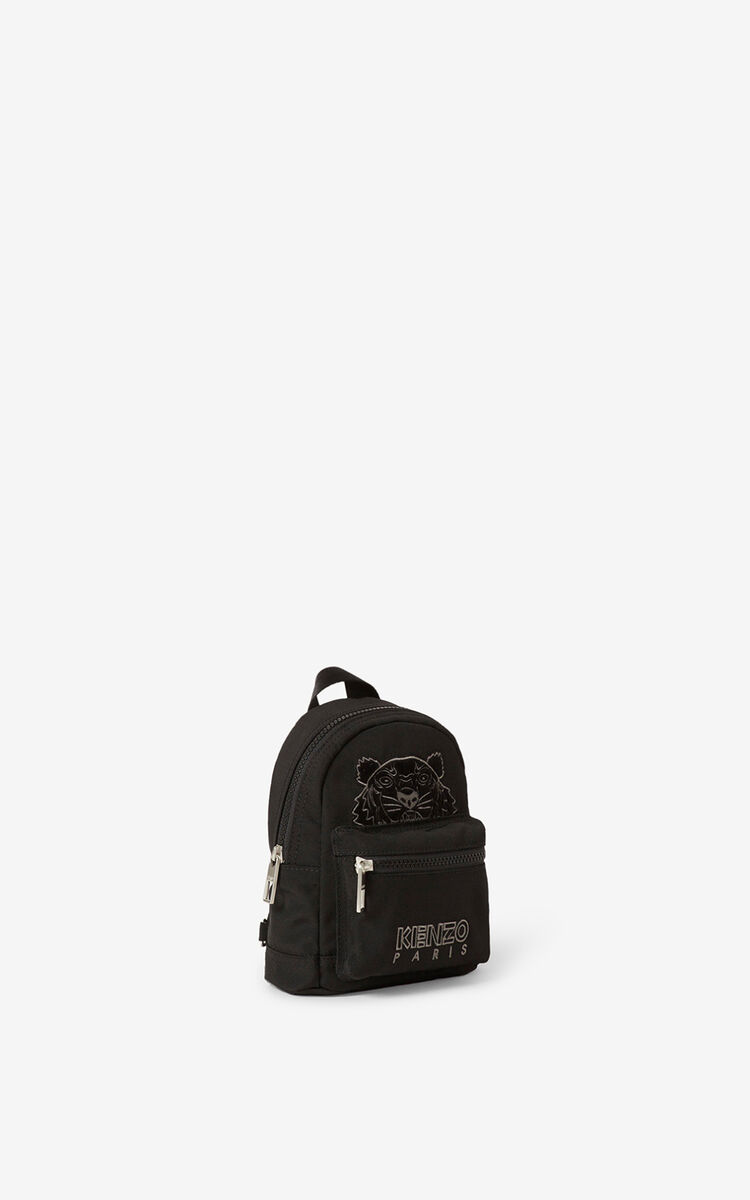 BLACK Mini canvas Kampus Tiger backpack for women KENZO