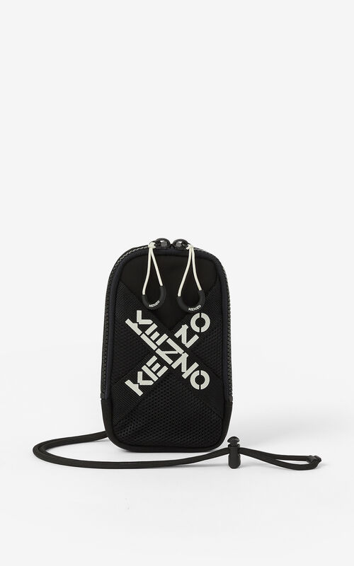 BLACK KENZO Sport crossbody phone holder for unisex
