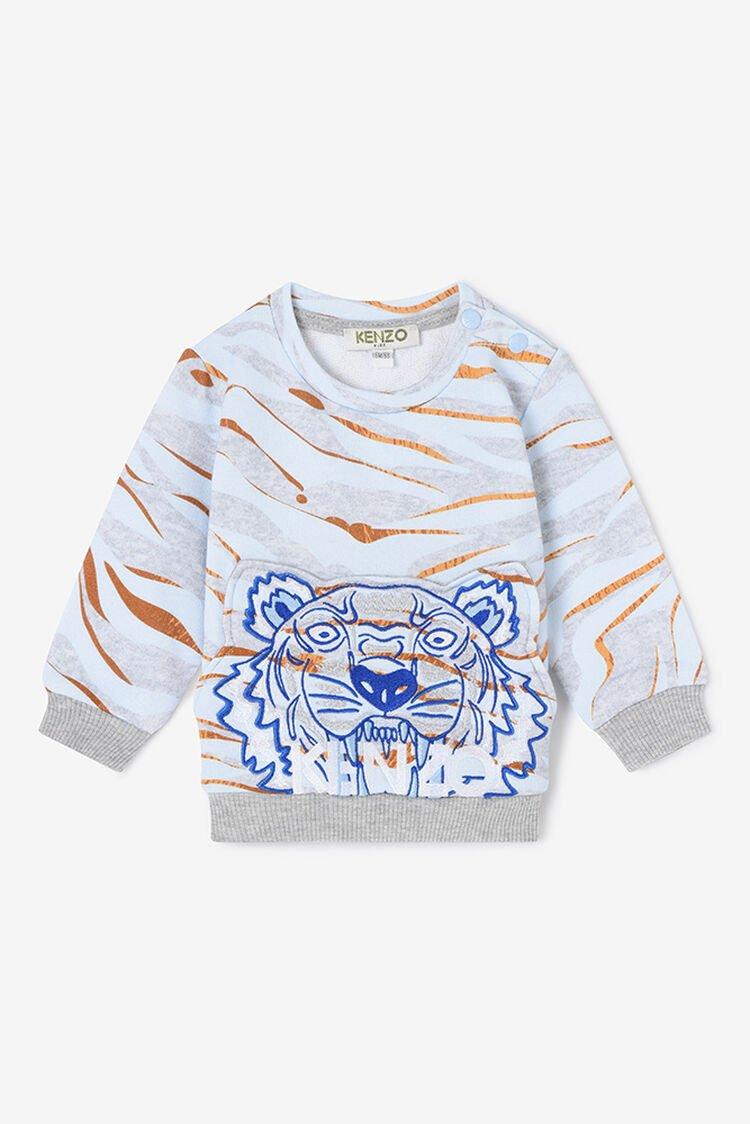MIDDLE GREY Tiger Stripes Sweatshirt for men KENZO