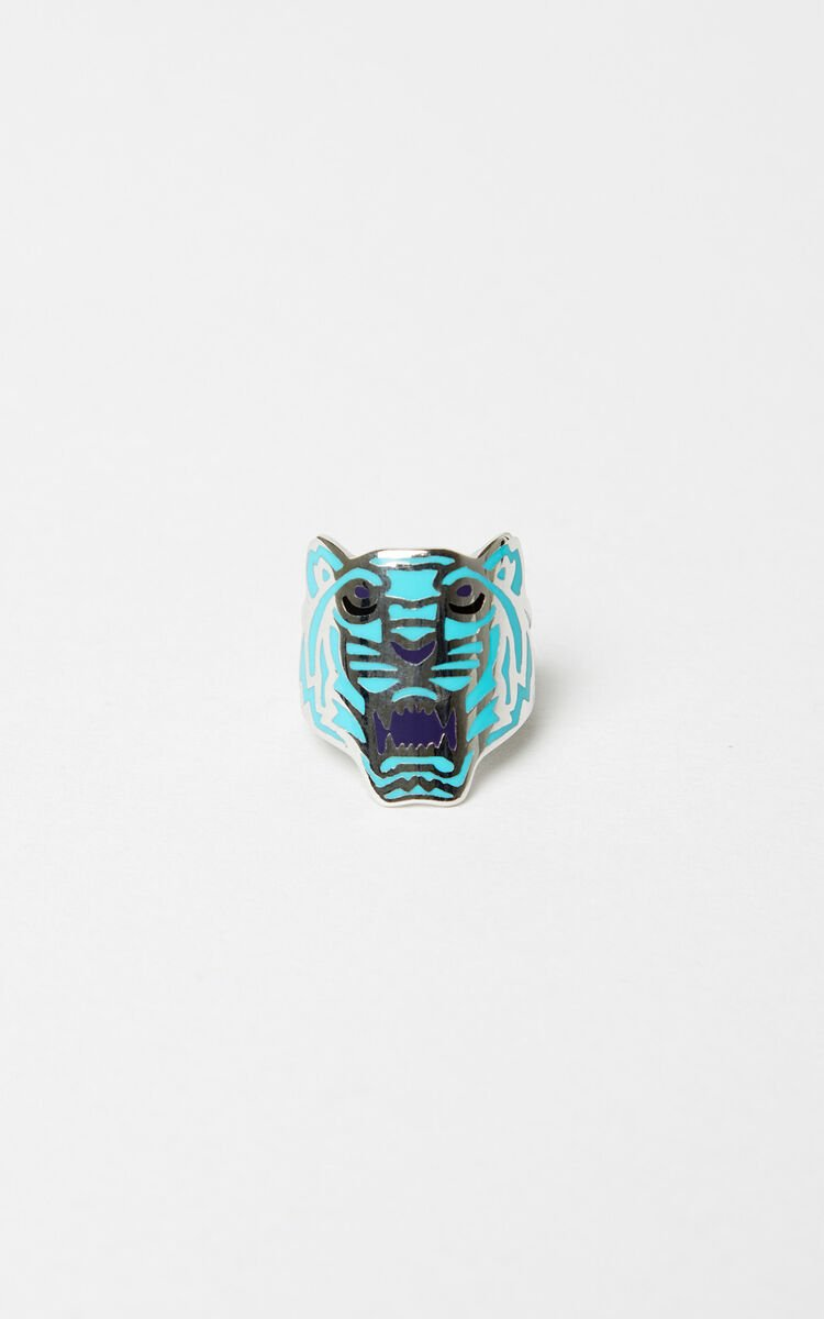 TURQUOISE Colored Tiger ring for unisex KENZO