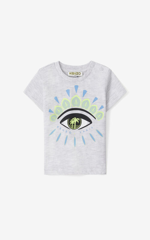 PALE GREY 'Cali Party' Eye T-shirt for women KENZO