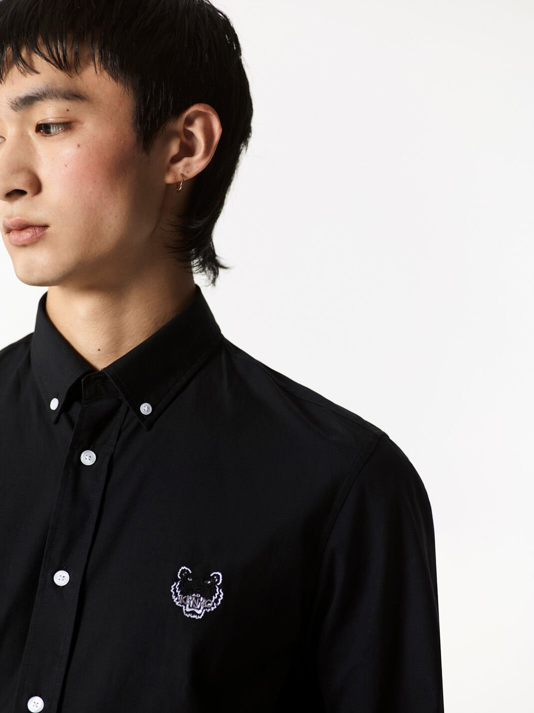 BLACK Tiger Crest Shirt for men KENZO
