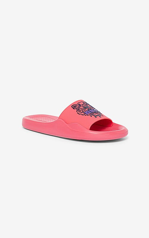CORAL Tiger pool mules for unisex KENZO