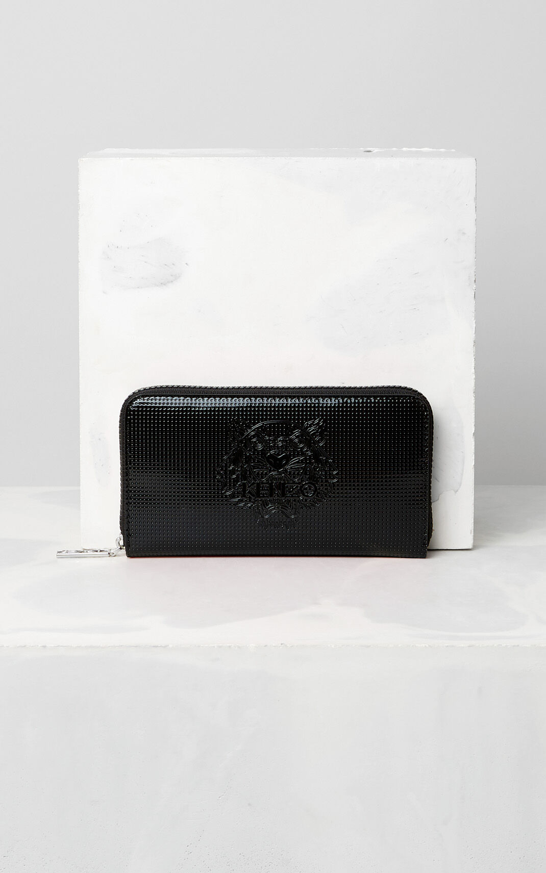 BLACK Tiger continental wallet for unisex KENZO