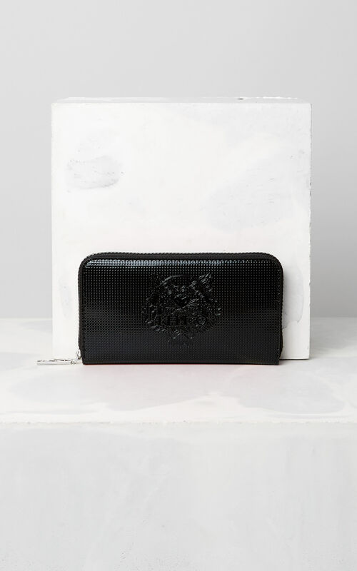 BLACK Tiger continental wallet for women KENZO