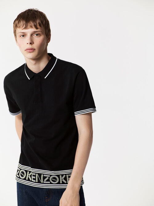 BLACK KENZO Polo for men
